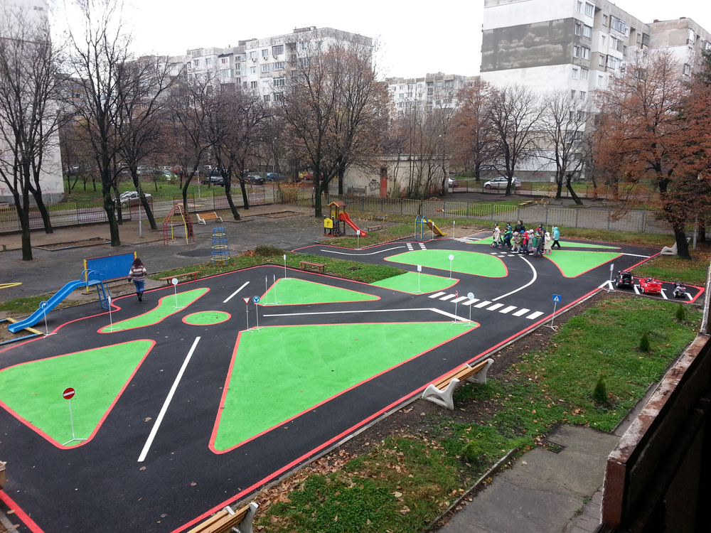 Construction Of Playgrounds For Road Safety In Kindergartens And Schools Active Building